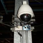 類比迴轉球攝影機以VIDEO SERVER轉換為網路封包