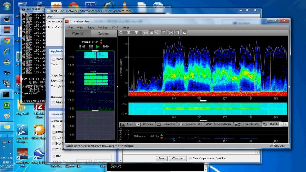 遠距離 無線網路-以頻譜測試運作頻率占用狀態